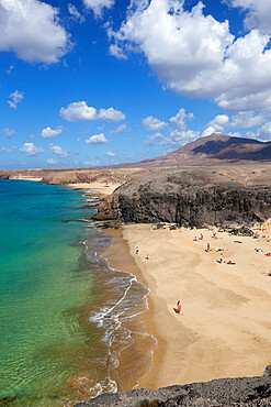 Playa del Papagayo, near Playa Blanca, Lanzarote, Canary Islands, Spain