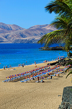 Playa Grande, Puerto del Carmen, Lanzarote, Canary Islands, Spain
