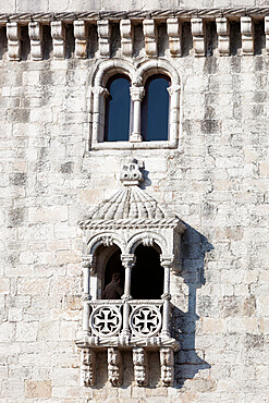 Balcony of Torre de Belem, UNESCO World Heritage Site, Belem, Lisbon, Portugal, Europe