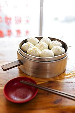 Steamed dumplings, Dali, Yunnan Province, China, Asia