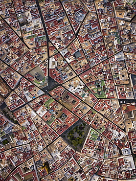 Aerial view of Cadiz, by drone, Andalucia, Spain, Europe