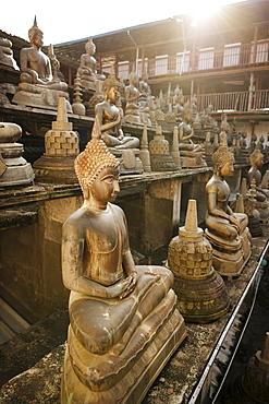 Buddha statues, Gangaramaya Temple, Colombo, Western Province, Sri Lanka, Asia