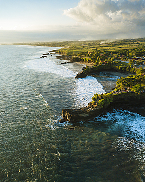 Aerial view from Tanah Lot Temple, Bali, Indonesia, Southeast Asia, Asia