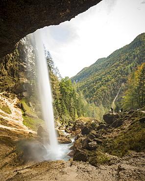 Pericnik Waterfall, Triglav National Park, Upper Carniola, Slovenia, Europe