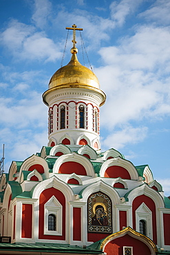 Kazan Cathedral, Red Square, UNESCO World Heritage Site, Moscow, Moscow Oblast, Russia, Europe