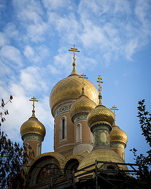 Orthodox Church domes and steeples, Bucharest, Romania, Europe