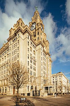 Exterior of the Liver Building, Liverpool, Merseyside, England, United Kingdom, Europe