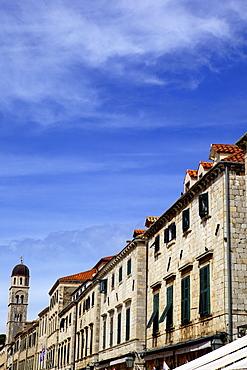 Main street Stradun (Placa) in the old town of Dubrovnik, UNESCO World Heritage Site, Croatia, Europe