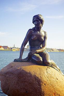 Statue of The Little Mermaid in Copenhagen, Denmark, Scandinavia, Europe