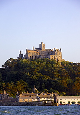 St. Michaels Mount, cut off from Marazion at high tide, Cornwall, England, United Kingdom, Europe