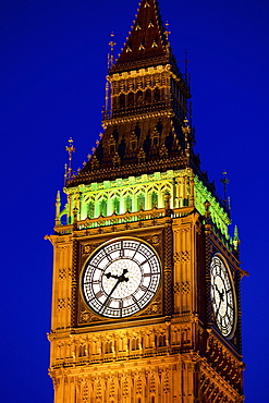 Big Ben at twilight in Westminster, London, England, United Kingdom, Europe