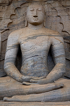 Sitting Buddha, Gal Vihara at Polonnaruwa, UNESCO World Heritage Site, Sri Lanka, Asia