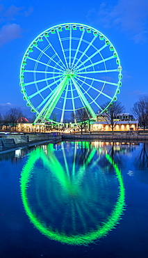 The tallest Ferris Wheel in Canada at the harbour, Montreal, Quebec, Canada, North America