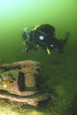 Parts of German Battleship Kaiser, Scapa Flow, Orkney islands, Scotland, UK