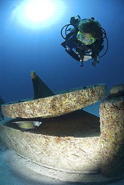 Sun Dial from ATLANTIS sculpture park, Cayman Brac, Cayman Islands, Caribbean