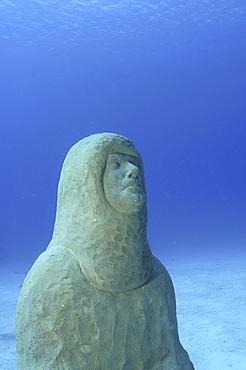 uStatue of Lawson Wood, First Elder of ATLANTIS sculpture park, Cayman Brac, Cayman Islands, Caribbean