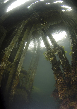 British Blockship FC Pontoon, Scapa Flow, Orkney Islands, Scotland, UK
