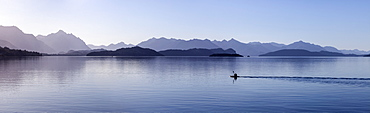 View of lake and mountains, San Carlos de Bariloche, Argentina