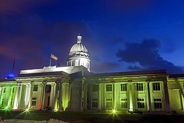 Illuminated town hall, Colombo, Sri Lanka
