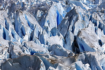 Spiked tops of glacier, Argentina, Los Glaciares National Park, Perito Moreno