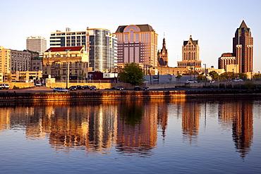 USA, Wisconsin, Milwaukee, City view, USA, Wisconsin, Milwaukee