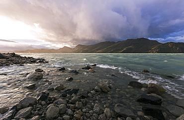 Scenic view with Cordillera del Paine, Chile