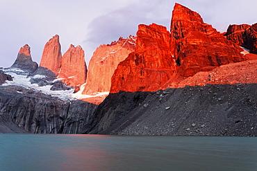 Scenic view of Cordillera del Paine, Chile