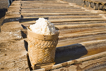 Salt extracted from saltwater