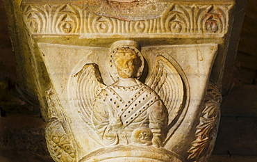 Turkey, Istanbul, Church of St Saviour in Chora, detail of sculpture