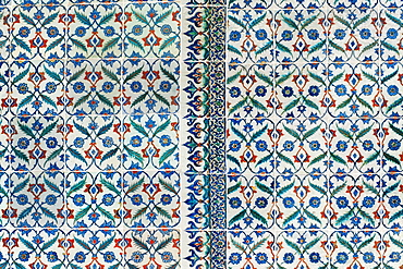 Turkey, Istanbul, Topkapi Palace tilework