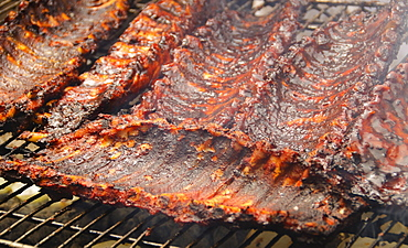 Spareribs on barbeque
