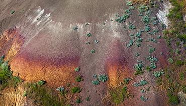 USA, South Dakota, Colorful rock in Badlands National Park