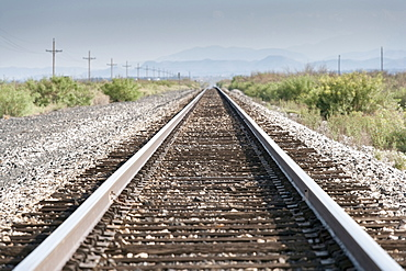 View of rail road track, New Mexico, USA
