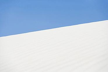 Landscape of white desert, White Sands National Monument, New Mexico, USA