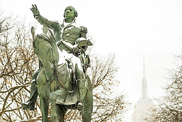 George Washington statue in union square park, New York City, USA