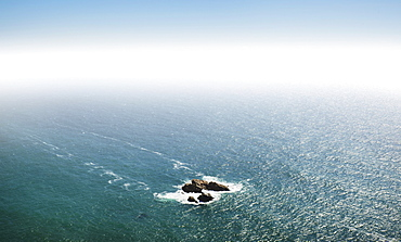 Small island on Atlantic Ocean, Sintra, Portugal