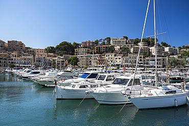 Soller, Mallorca, Boats in marina, Soller, Mallorca