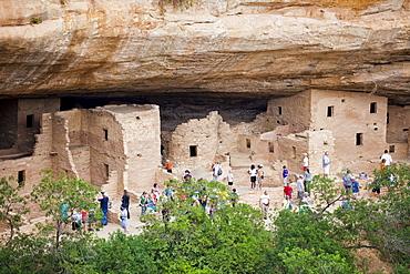 USA, Colorado, Mesa Verde National Park, Spruce Tree House, USA, Colorado, Mesa Verde National Park