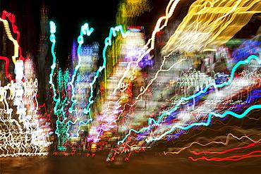 USA, Nevada, Las Vegas, light trail, USA, Nevada, Las Vegas
