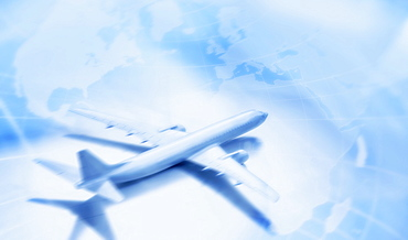 Studio shot of airplane model
