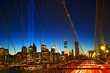 World Trade Center Memorial, Tribute in Light, USA, New York City