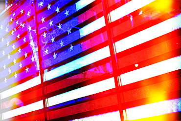 Neon American flag
