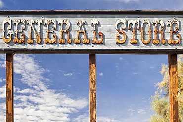 USA, California, Death Valley, general store rustic sign, USA, California, Death Valley