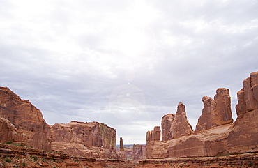 Courthouse Towers Arches National Park Moab Utah USA