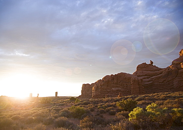 Sunset at Arches National Park Moab Utah USA