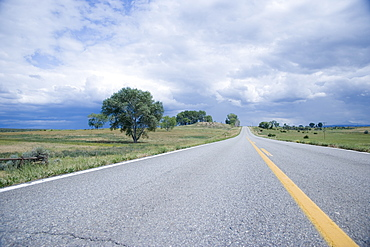 Open road on Route 62 Colorado USA