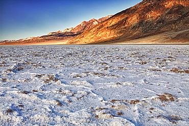 USA, California, Death Valley, barren badwater basin salt flats, USA, California, Death Valley