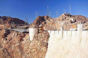 USA, Nevada, Boulder City, part of Hoover dam, USA, Nevada, Boulder City