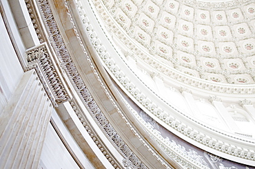 USA, Washington DC, Capitol Building, Close up of coffers on ceiling
