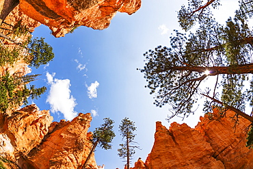 View of rocks and sky, USA, Utah, Bryce Canyon